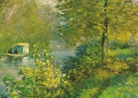 De atelierboot van de kunstenaar, Claude Monet