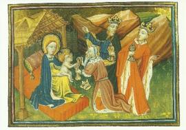 Aanbidding der Koningen, Historiebijbel Utrecht 1430, Jean Fouquet