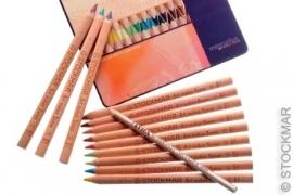 Kleurpotloden Stockmar drie-kantig per stuk, 24 kleuren