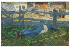 Pauze in de schaduw, Giovanni Segantini