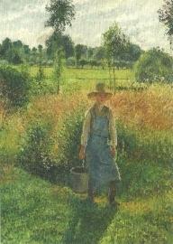 De tuinman, Camille Pissarro