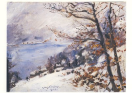 Walchensee in de winter, Lovis Corinth