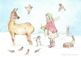 Dieren voeren in de winter, Margo Heine Slezak