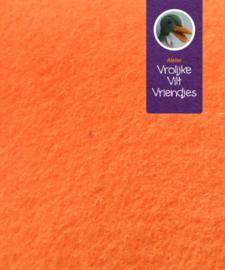 Wolvilt licht oranje 19