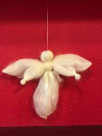 Engel van lontwol met zijde groot ( 15 cm)