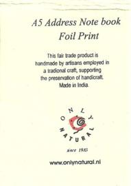 Only Natural adresboek Foil print