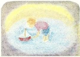 Kind met bootje, Hannelore Jach