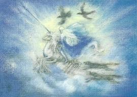 Odin met Sleipnir, Marjan van Zeyl
