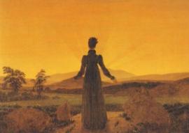 Vrouw in de ochtendzon, Caspar David Friedrich