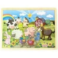 Houten puzzel boerderij ( 24 stukken)