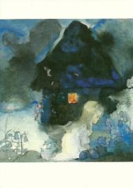 Elfenkind in blauwe tuin, Mili Weber