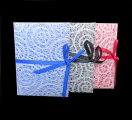 Olino Paperworks, Notebook met mulberry kantpapier omslag, Blauw