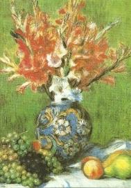 Grote vaas met gladiolen, Pierre-Auguste Renoir