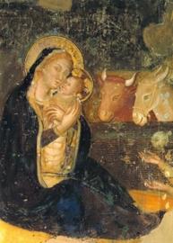 Geboorte van Christus, fresco Assisi