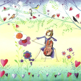 Vrouw speelt cello, Kristiana Heinemann