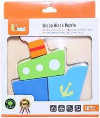 Shape block puzzle Boot ( 18 mnd +)