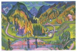 Sertigdal in de herfst, Ernst Ludwig Kirchner