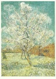 Bloeiende perzikboom wit, Vincent van Gogh