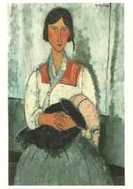Zigeunerin met baby, Amadeo Modigliani