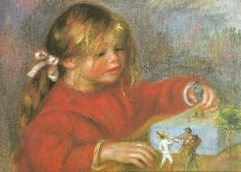 Spelende Claude Renoir, Auguste Renoir