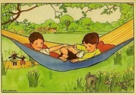 Kinderen in hangmat, Rie Cramer