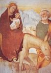 Vlucht naar Egypte, Fresco 16e eeuw