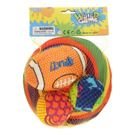 Waterballen en frisbee