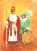 Sinterklaas en Zwarte Piet poster, Marjan van Zeyl