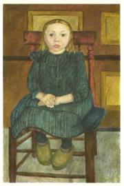 Boerenkind, zittend op een stoel, Paula Modersohn-Becker