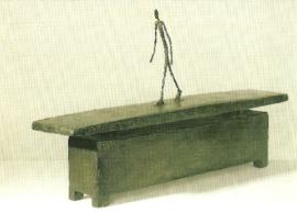 Man marcherend in de regen, Alberto Giacometti