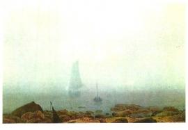 Strand bij mist, Caspar David Friedrich