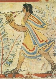 Fluitspeler, Etruskisch