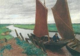 Turfschuiten op de Hamme, Fritz Mackensen