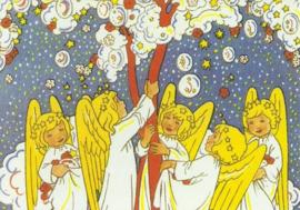 Engeltjes schudden wolkenboom, Rie Cramer