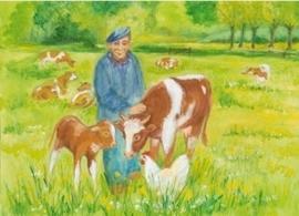 Koe met haar kalfje, Marjan van Zeyl