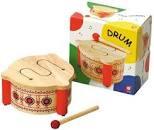 Houten trommel met drumstick