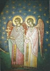 Engelwezens uit de hemelse hiërarchieën, fresko 16de eeuw