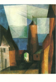 Grützturm in Treptow aan de Rega, Lyonel Feininger