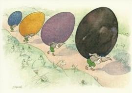 Dwergen met paaseieren, Ernst Kreidolf