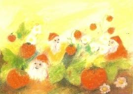 Dwergen bij aardbeien, Elke Bühler