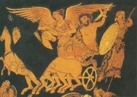 Strijd der Giganten, vaasschildering Grieks