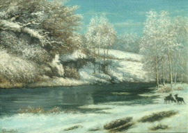 Winterlandschap, Gustave Courbet