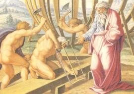 Naar Gods bevel bouwt Noach de Ark, Rafael