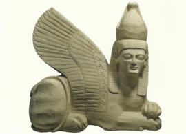 Grafbeeld in de vorm van een sfinx, 7e eeuw v. Chr.