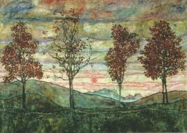 Vier bomen, Egon Schiele