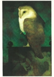 Grote uil op scherm, Jan Mankes