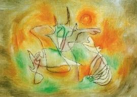 Huilende hond, Paul Klee