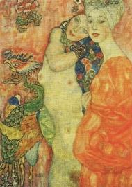Vriendinnen, detail, Gustav Klimt