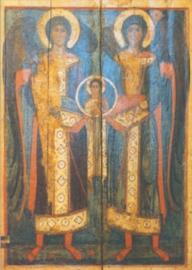 De aartsengelen Gabriel en Michael, Russische ikoon