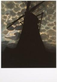 Molen bij avond, Piet Mondriaan